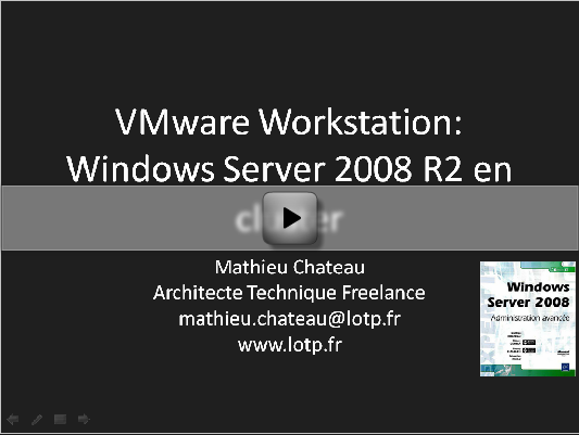 vmware workstation 2008R2 cluster