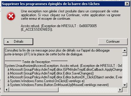 GPMC : 0x80070005 - access denied - E_Accessdenied - Blog